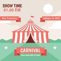 Modelo de vetor de cartaz de carnaval