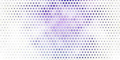 pano de fundo vector roxo claro com pontos.