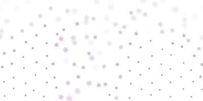 fundo do doodle do vetor roxo claro com flores.