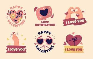 vários símbolos de amor vetor