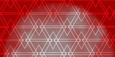 layout de vetor laranja claro com linhas, triângulos.