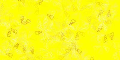 modelo abstrato de vetor laranja claro com folhas.