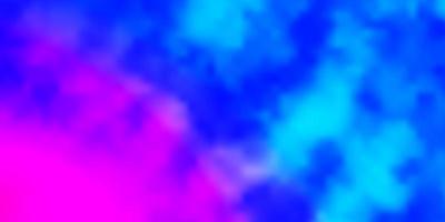 pano de fundo rosa claro, azul vector com cúmulos.