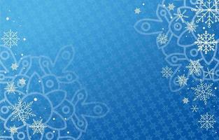 fundo de flocos de neve azul vetor