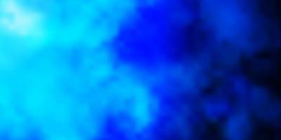 padrão de vetor azul escuro com nuvens.