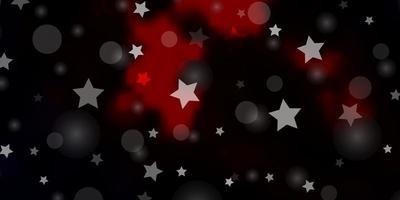 fundo vector vermelho escuro com círculos, estrelas.