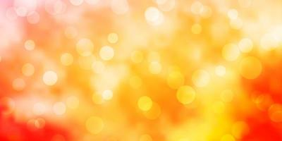 padrão de vetor rosa, amarelo claro com esferas.