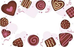 fundo de chocolate delicioso do dia dos namorados vetor