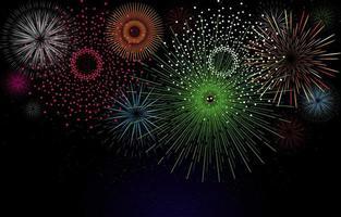 conceito de fundo de celebração de fogos de artifício simples vetor
