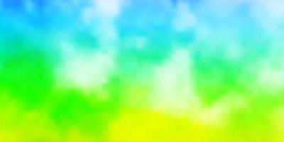 layout de vetor multicolor de luz com cloudscape.