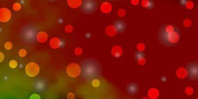 luz de fundo multicolor vector com círculos, estrelas.