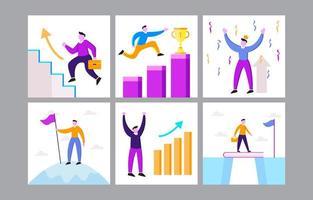 trabalho e resolução de carreira vetor