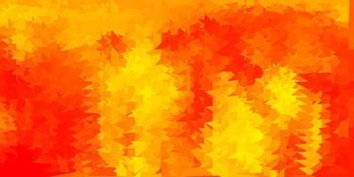 papel de parede polígono gradiente de vetor laranja claro.