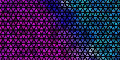 padrão de vetor rosa claro, azul com estilo poligonal.
