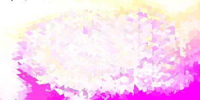 papel de parede de polígono gradiente de vetor rosa claro e amarelo.