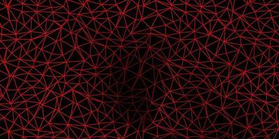 layout de polígono gradiente de vetor laranja escuro.