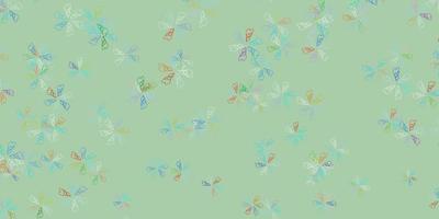 luz de fundo multicolorido vetor abstrato com folhas.