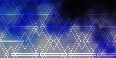 layout de vetor roxo claro com linhas, triângulos.
