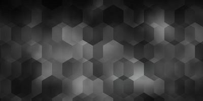 pano de fundo vector cinza claro com hexágonos.