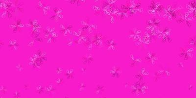 Arte abstrata do vetor rosa claro com folhas.
