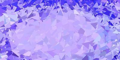 luz de fundo poligonal vector roxo.
