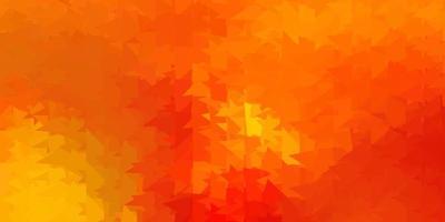 papel de parede poligonal geométrico de vetor laranja escuro.