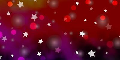 fundo vector rosa claro, amarelo com círculos, estrelas.