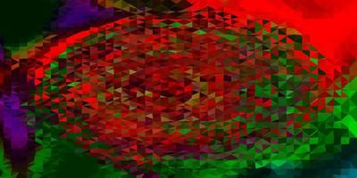cenário poligonal de vetor multicolor escuro.
