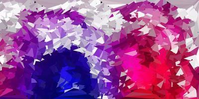 modelo de triângulo poli de vetor rosa e roxo escuro.