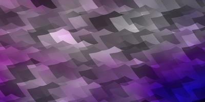 layout de vetor roxo claro, rosa com formas hexagonais.