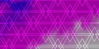 pano de fundo vector rosa claro com linhas, triângulos.