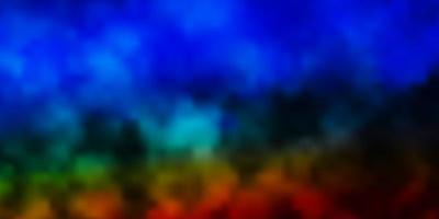 padrão de vetor multicolor escuro com nuvens.