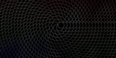 textura de vetor multicolorido escuro com discos.