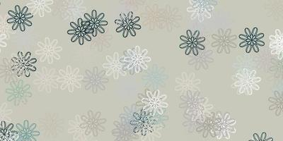 textura de doodle de vetor cinza claro com flores.