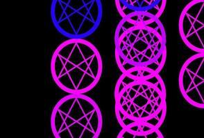 padrão de vetor roxo e rosa escuro com elementos mágicos.