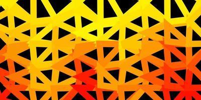 pano de fundo do triângulo abstrato do vetor laranja claro.