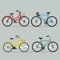 coleção de bicicletas de desenho animado