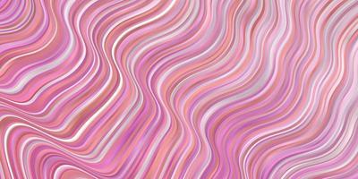 layout de vetor rosa claro com linhas irônicas.