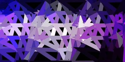 papel de parede do mosaico do triângulo do vetor roxo claro.