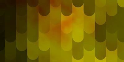 pano de fundo de vetor verde e amarelo claro com linhas.