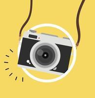 câmera suspensa com luz redonda para selfie