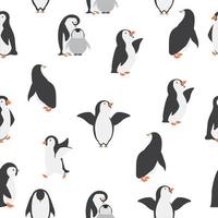 happy penguins seamless pattern background