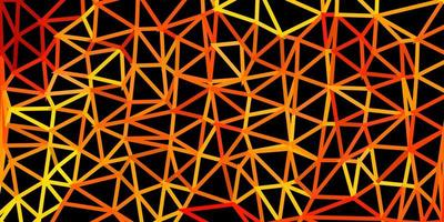 padrão poligonal de vetor laranja claro.