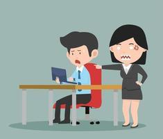 empresário gritando com um chefe zangado vetor