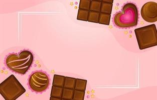 desenho de fundo de chocolate vetor