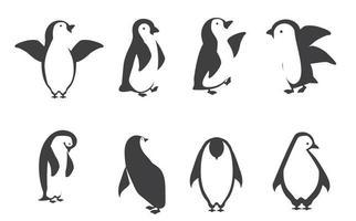 conjunto de caracteres de pinguim