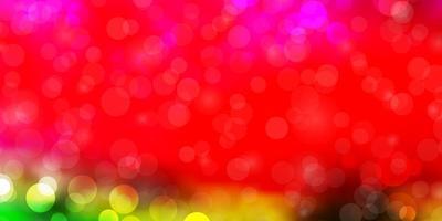 textura de vetor rosa, verde claro com círculos.