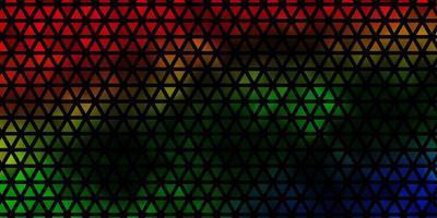 fundo escuro do vetor multicolor com triângulos.