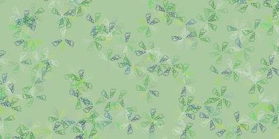 arte abstrata do vetor azul e verde claro com folhas.