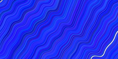 textura vector azul claro com linhas curvas.